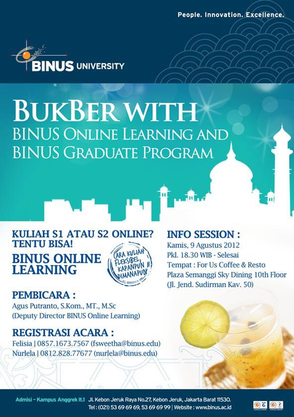BukBer dengan BINUS Graduate Program dan BINUS Online Learning