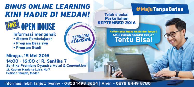 Binus Online Learning Hadir Di Medan
