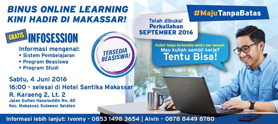 BINUS ONLINE LEARNING HADIR DI MAKASSAR