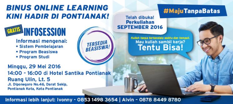 BINUS ONLINE LEARNING Hadir Di Pontianak