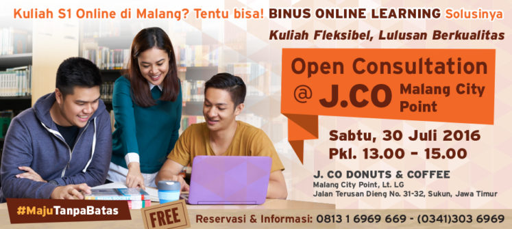 OPEN CONSULTATION AT J.CO Malang City Point
