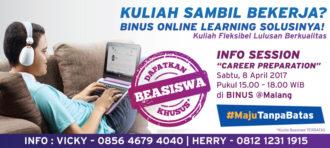 """INFO SESSION: """"CAREER PREPARATION"""" di BINUS @Malang"""