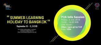 SUMMER HOLIDAY LEARNING TO BANGKOK